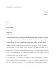Final Will Letter.