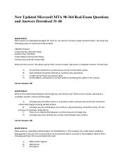 New-Updated-Microsoft-MTA-98-364-Real-Exam-Questions-and-Answers-Download-31-40
