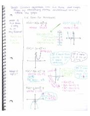 Analyzing Graphs of Quadratic Functions notes