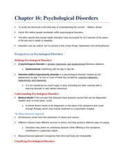 Chapter 16 - Psychological Disorders (Revised)