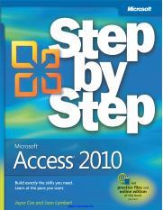 Microsoft Access 2010 Step by Step.pdf