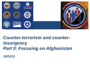 Counter-terrorism and Counter-insurgency focusing on Afghanistan