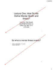 Lecture 1 - Mental Health and Mental Illness.pdf