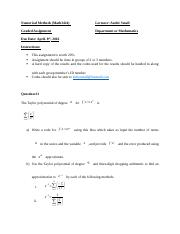 Numerical Methods graded assignment.docx
