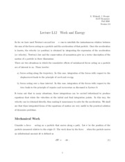 Work and Energy notes