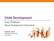 Moral Development and Discipline