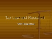 20111.2 Tax Law and Research
