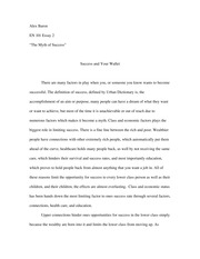 """outline essay  the myth of the model family""""  alexbaronpages en the myth of success essay"""