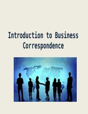 C1 Introduction to Business Correspondence.ppt