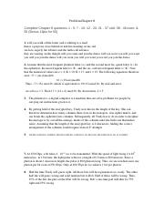 Problem Chapter 8