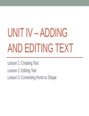 UNIT IV – ADDING AND EDITING TEXT.pptx