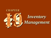 ch19 Inventory Management