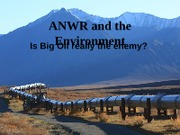 ANWR and the Environment