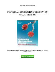 Financial Accounting Theory Deegan Ebook