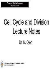Cell cycle  division Lecture Notes