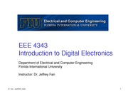 lecture 1 on Introduction to Digital Electronics