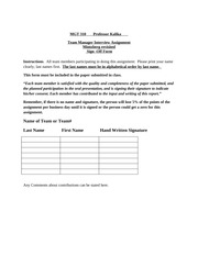 MGT 303 Manager Interview Sign-Off Form