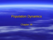 Chapter 36 - Population Dynamics