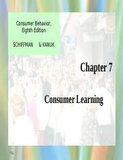 Consumer Learning Schiffman07.ppt