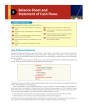 Chapter 5 Balance Sheet and Statement of Cash Flows