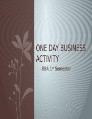 One day Business Activity.pptx