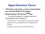 Lecture 19 - Signal Detection Theory 11-19