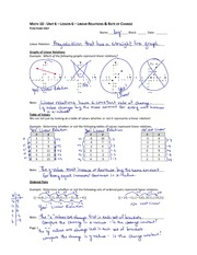 Linear Relation Notes