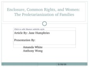 _Enclosure, Common Rights, and Women Presentation