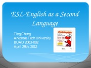 ESL-English as a Second Language PowerPoint