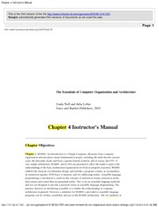 Chapter 4 Instructor's Manual