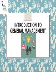 Introduction to General management - Part II.pptx
