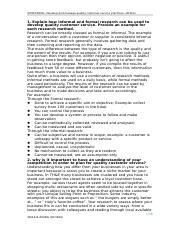 SITXCCS008—Develop and manage quality customer service practices—Written  .docx