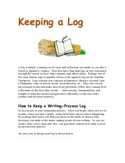 Keeping a Log.pdf