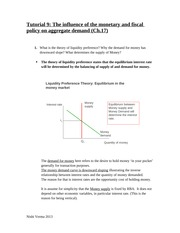 Answers Tutorial_9_week_10 Monetary and Fiscal Policies