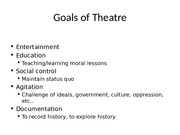 Theatre first test powerpoint
