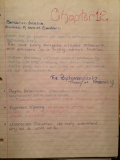 Chapter 12 Personality and Behavior Notes (id, ego, superego diagram)