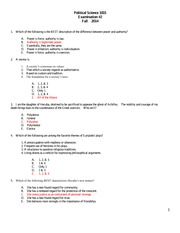 1001 Exam #2 Fall 2014 with Correct Answers