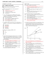 Econ Sample Quiz 2 Answer