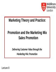 MKT1120 Lecture 8 Sales Promotion