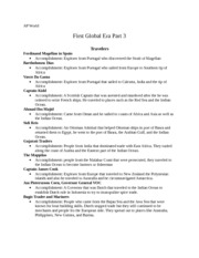 AP World First Global Era Part 3