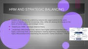 HRM AND STRATEGIC BALANCING