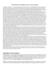 literary analysis essay on the adventures of huckleberry finn Critical analysis of huck finn essayscase study of the adventures of huckleberry finn the articles that are presented below explore adverse techniques of criticizing.