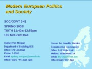 GOVT 341 Introduction to Nationalism and European Diversity Lecture 3 (Jan. 29)