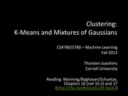 22 Clustering - k-Means and Mixtures of Gaussians
