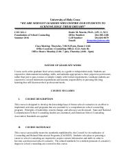 School Counseling  Summer 2016 Syllabus (1).docx