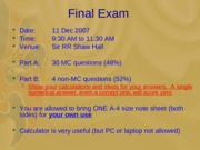 pre-exam review