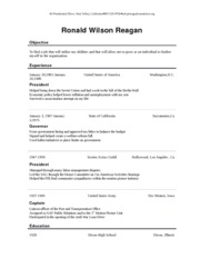 Creating a Chronological Resume