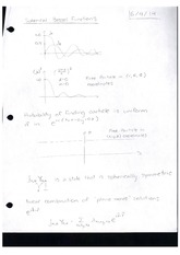 Class Note Spherical Bessel Functions