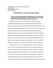 Short Paper-Health Educators