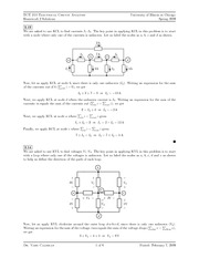ECE 210 - Currents and Voltages - Homework 2 with Answers